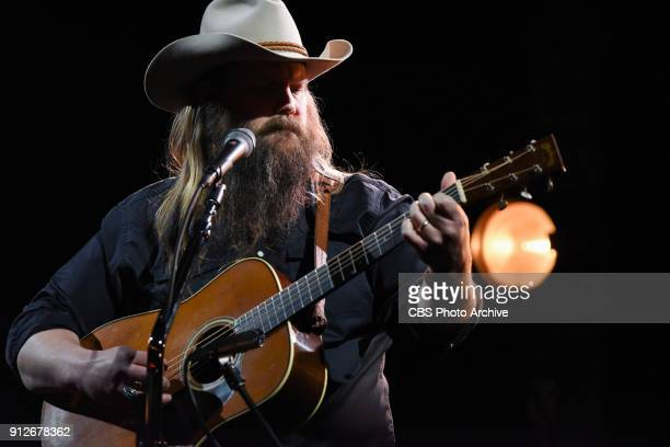 The Late Show with Stephen Colbert and guest Chris Stapleton during Tuesday's January 30 2018 show