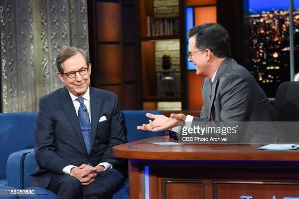 The Late Show with Stephen Colbert and guest Chris Wallace during Wednesday's July 24 2019 show
