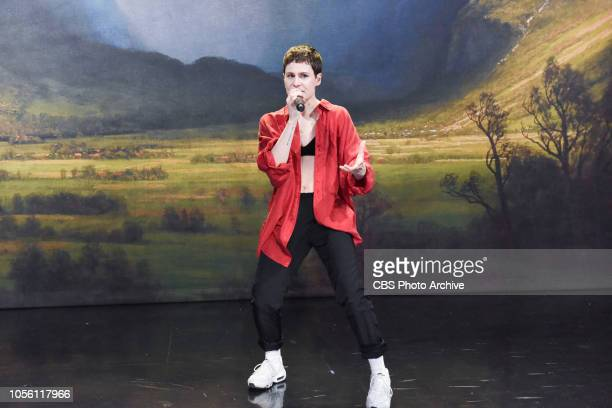 The Late Show with Stephen Colbert and guest Christine and the Queens during Tuesday's October 30 2018 show