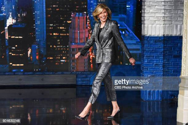 The Late Show with Stephen Colbert and guest Christine Baranski during Thursday's February 22 2018 show
