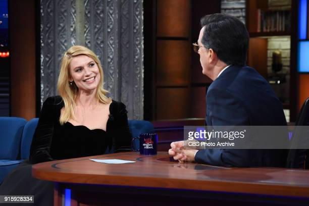 The Late Show with Stephen Colbert and guest Claire Danes during Monday's February 5 2018 show
