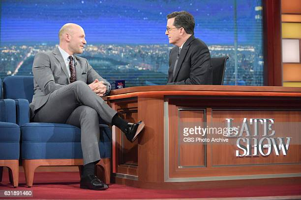 The Late Show with Stephen Colbert and guest Corey Stoll during Monday's 01/16/16 show in New York