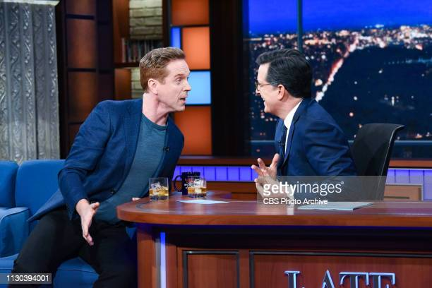 The Late Show with Stephen Colbert and guest Damian Lewis during Monday's March 11 2019 show