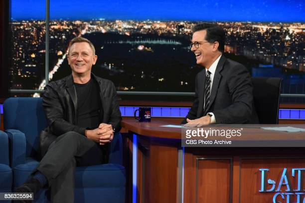 The Late Show with Stephen Colbert and guest Daniel Craig during Tuesday's August 15 2017 show
