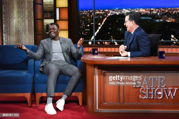 The Late Show with Stephen Colbert and guest Daniel Kaluuya during Tuesday's January 16 2018 show