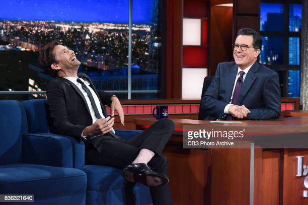 The Late Show with Stephen Colbert and guest David Tennant during Wednesday's August 9 2017 show