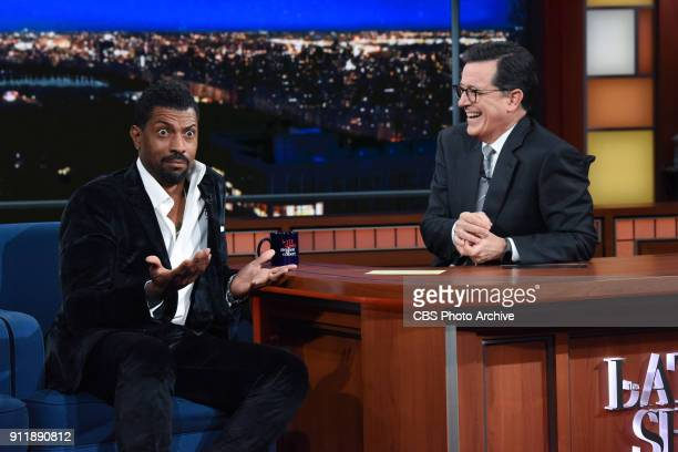 The Late Show with Stephen Colbert and guest Deon Cole during Friday's January 26 2018 show