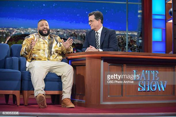 The Late Show with Stephen Colbert and guest DJ Khaled during Tuesday's 12/06/16 show in New York