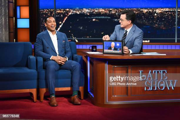 The Late Show with Stephen Colbert and guest Don Lemon during Thursday's June 21 2018 show