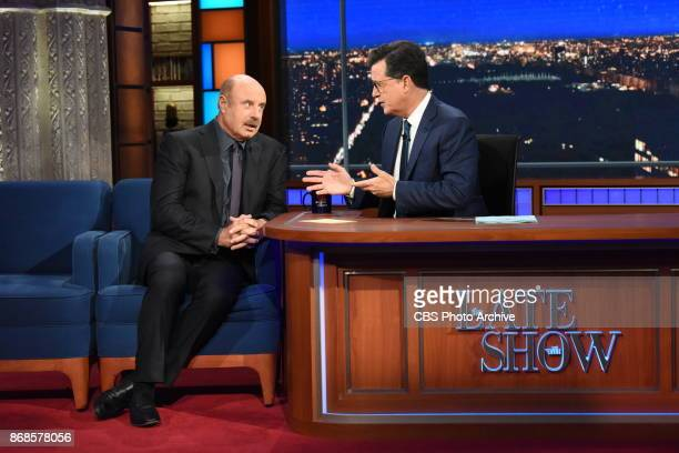 The Late Show with Stephen Colbert and Guest Dr Phil McGraw during Friday's October 27 2017 show in New York