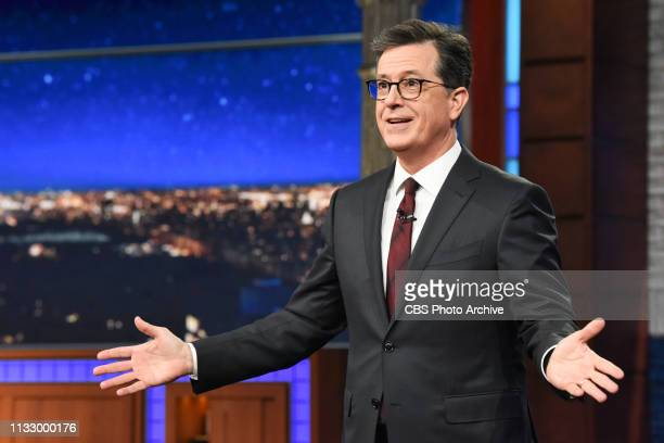 The Late Show with Stephen Colbert and guest during Tuesday's March 25 2019 show