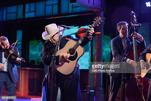 The Late Show with Stephen Colbert and guest Dwight Yoakam during Wednesday's 11/16/16 show in New York