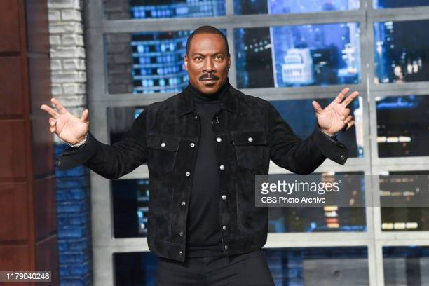 The Late Show with Stephen Colbert and guest Eddie Murphy during Friday's October 25, 2019 show.