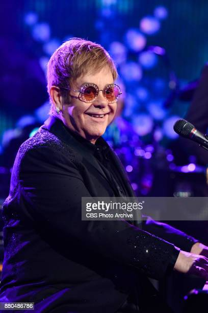 The Late Show with Stephen Colbert and guest Elton John during Wednesday's November 22 2017 show