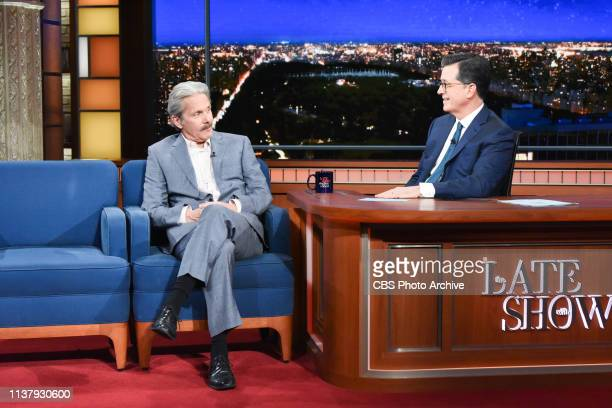 The Late Show with Stephen Colbert and guest Gary Cole during Monday's April 15, 2019 show.