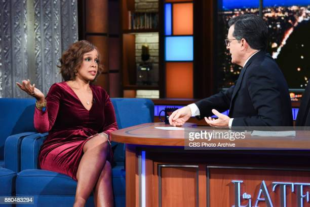 The Late Show with Stephen Colbert and guest Gayle King during Tuesday's November 21 2017 show