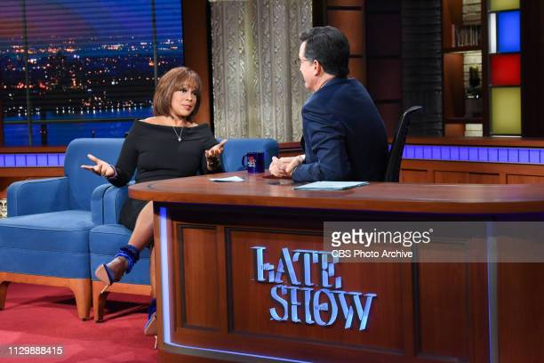 The Late Show with Stephen Colbert and guest Gayle King during Thursday's March 7 2019 show