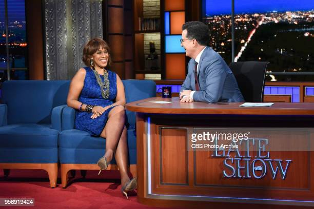The Late Show with Stephen Colbert and guest Gayle King during Wednesday's May 9 2018 show