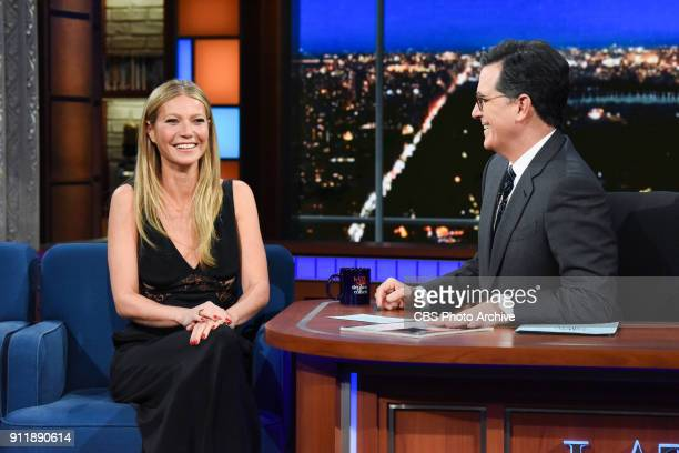 The Late Show with Stephen Colbert and guest Gwyneth Paltrow during Thursday's January 25 2018 show