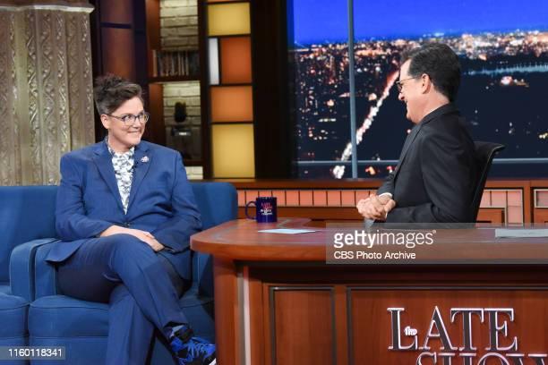 The Late Show with Stephen Colbert and guest Hannah Gadsby during Monday's August 5 2019 show