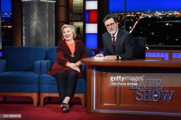 The Late Show with Stephen Colbert and guest Hillary Rodham Clinton during Friday's September 21 2018 show