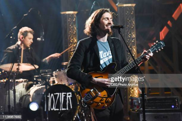 The Late Show with Stephen Colbert and guest Hozier during Tuesday's March 5 2019 show