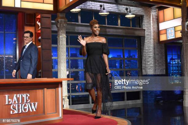 The Late Show with Stephen Colbert and guest Issa Rae during Monday's July 17 2017 show