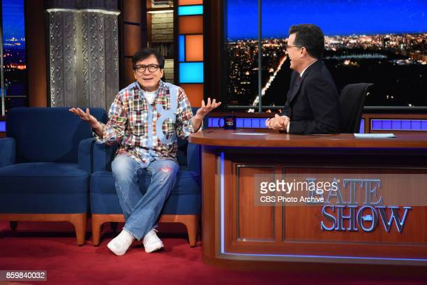 The Late Show with Stephen Colbert and guest Jackie Chan during Monday's October 9 2017 show