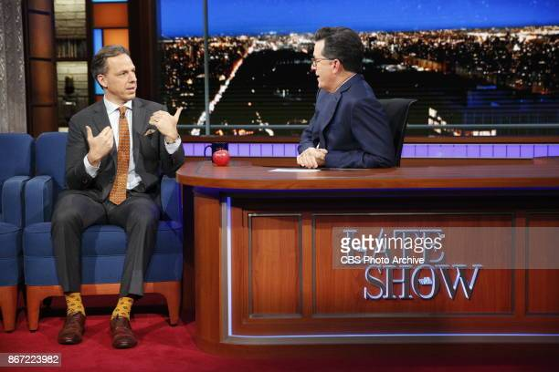 The Late Show with Stephen Colbert and guest Jake Tapper during Tuesday's October 24 2017 show