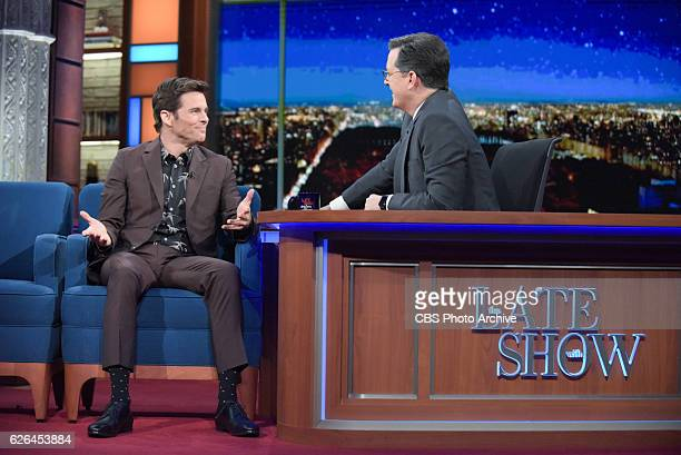 The Late Show with Stephen Colbert and guest James Marsden during Tuesday's 11/22/16 show in New York