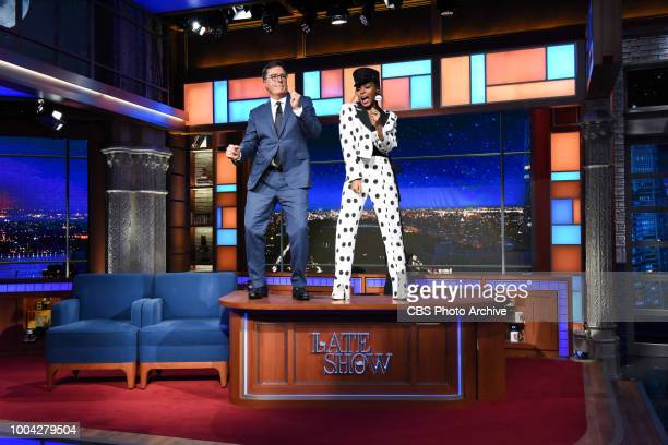 The Late Show with Stephen Colbert and guest Janelle Monae during Friday's July 20 2018 show