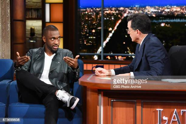 The Late Show with Stephen Colbert and guest Jay Pharoah during Thursday's November 9 2017 show