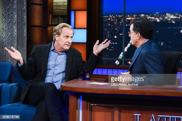 The Late Show with Stephen Colbert and guest Jeff Daniels during Thursday's March 1 2018 show