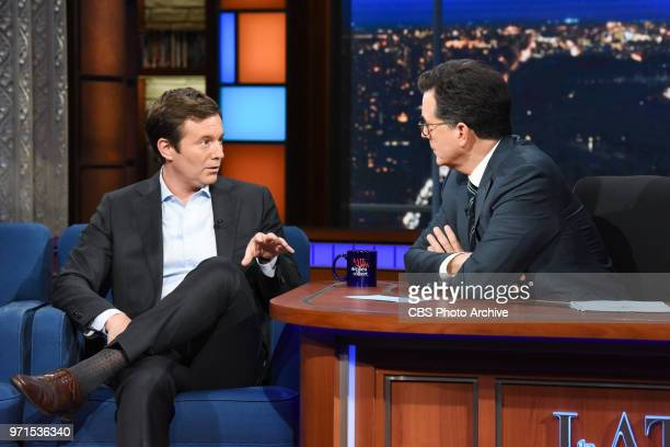 The Late Show with Stephen Colbert and guest Jeff Glor during Friday's June 8 2018 show