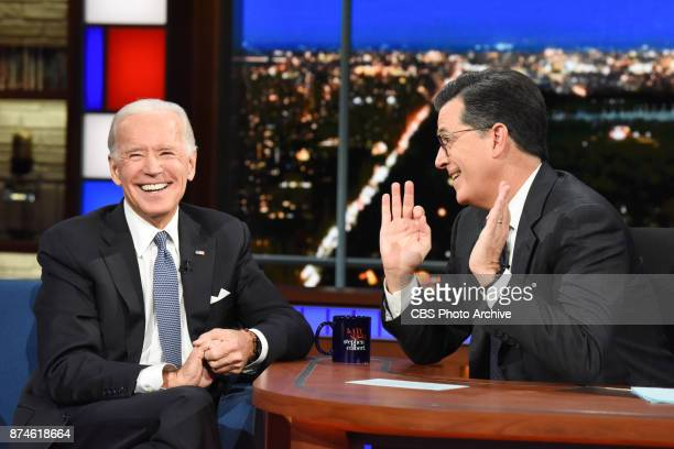 The Late Show with Stephen Colbert and guest Joe Biden during on November 13 2017 show