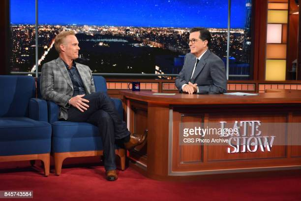 The Late Show with Stephen Colbert and guest Joe Buck during Wednesday's September 6 2017 show