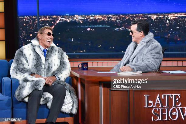 The Late Show with Stephen Colbert and guest Joe Namath during Friday's July 19 2019 show