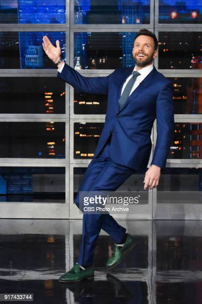 The Late Show with Stephen Colbert and guest Joel McHale during Thursday's February 8 2018 show