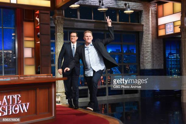 The Late Show with Stephen Colbert and guest John Dickerson Michael Rapaport Grizzly Bear during Thursday's August 17 2017 show