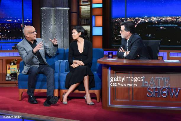 The Late Show with Stephen Colbert and guest John Heilemann and Alex Wagner during Thursday's September 13 2018 show