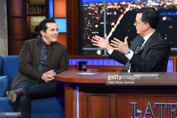 The Late Show with Stephen Colbert and guest John Leguizamo during Tuesday's February 4 2020 live show
