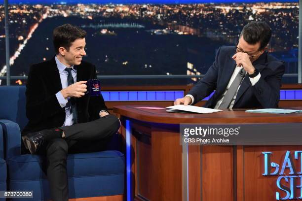 The Late Show with Stephen Colbert and guest John Mulaney during Friday's November 10 2017 show