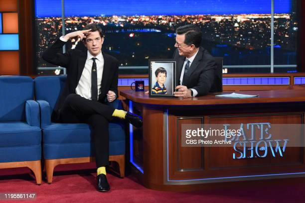 The Late Show with Stephen Colbert and guest John Mulaney during Wednesday's January 22 2020 show