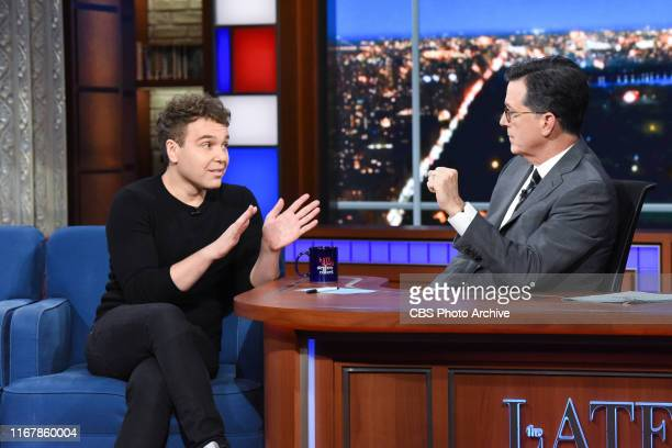 The Late Show with Stephen Colbert and guest Jon Lovett during Thursday's September 13 2019 show