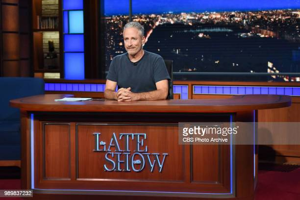 The Late Show with Stephen Colbert and guest Jon Stewart during Thursday's June 28 2018 show