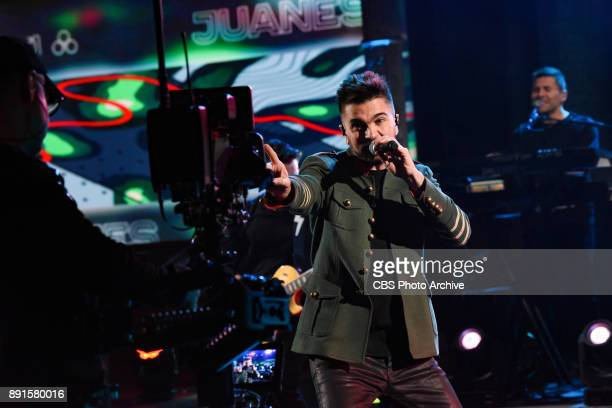 The Late Show with Stephen Colbert and guest Juanes during Monday's December 11 2017 show