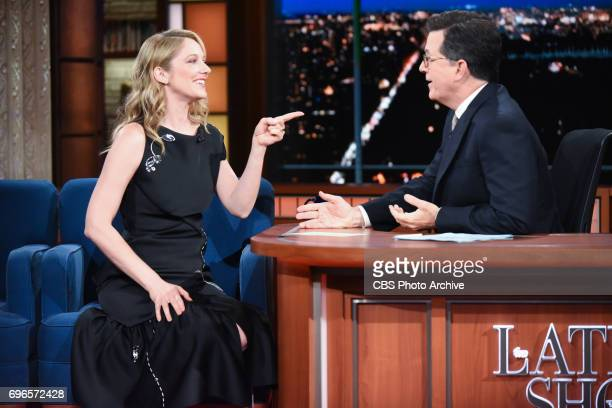 The Late Show with Stephen Colbert and guest Judy Greer during Thursday's June 15 2017 show