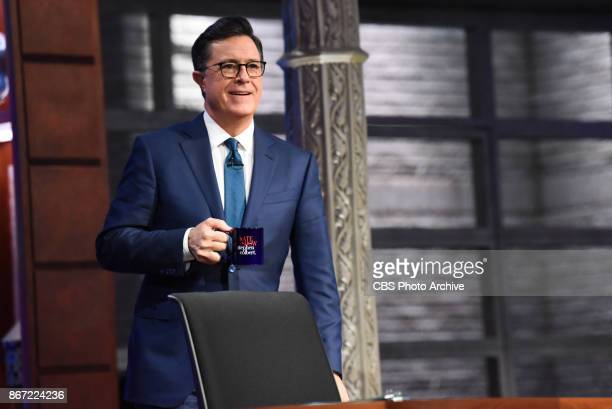 The Late Show with Stephen Colbert and guest Julianne Moore Jermaine Fowler Fleet Foxes during Thursday's October 26 2017 show