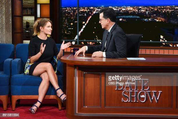 The Late Show with Stephen Colbert and guest Katy Tur during Tuesday's December 12 2017 show