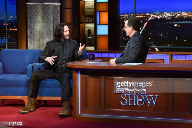 The Late Show with Stephen Colbert and guest Keanu Reeves during Friday's May 10 2019 show